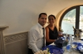 Max and Janine enjoying a superb Italian wedding feast!